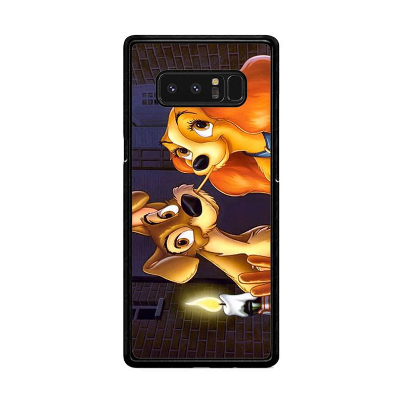 Flazzstore Lady And Tramp Disney Z1223 Custom Casing for Samsung Galaxy Note 8