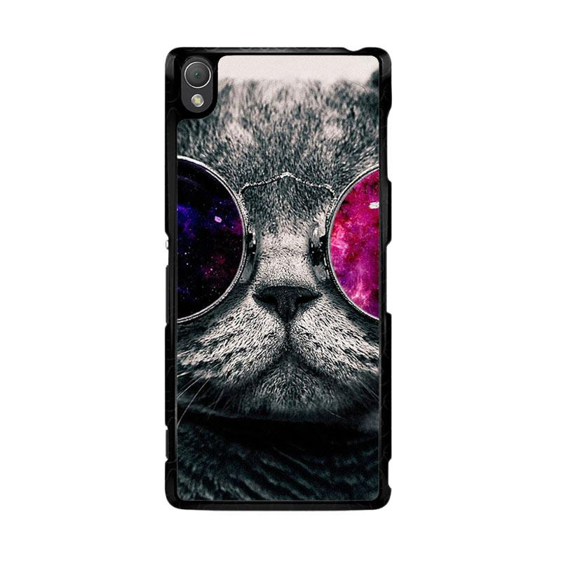 Flazzstore Cat Glasses O0167 Custom Casing for Sony Xperia Z3