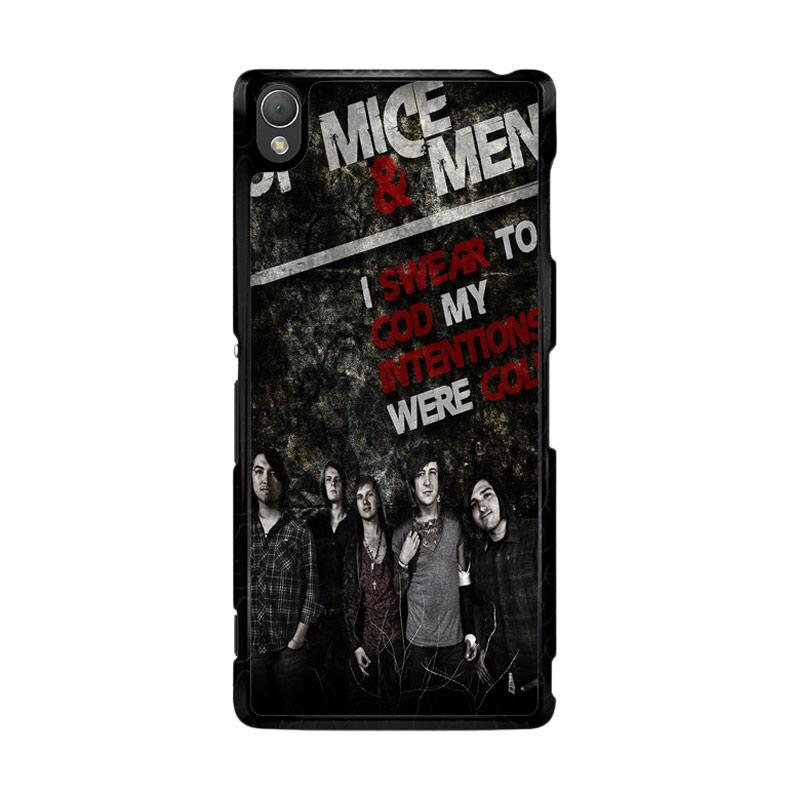 Flazzstore Of Mice And Men Band F0544 Custom Casing for Sony Xperia Z3