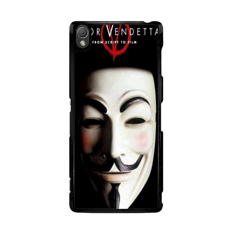 Flazzstore Guy Fawkes Mask V For Vendetta Z0192 Custom Casing for Sony Xperia Z3