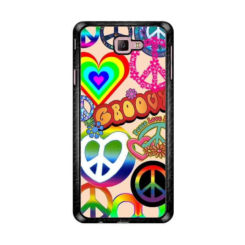 Flazzstore 60S Peace Sign D0034 Custom Casing for Samsung Galaxy J7 Prime