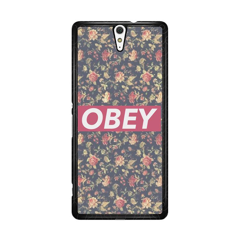 Flazzstore Obey Floral O0727 Custom Casing for Sony Xperia C5 Ultra