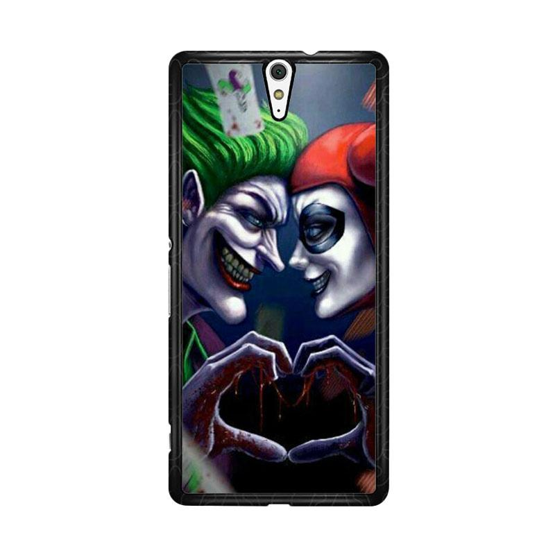 Flazzstore Harley Quinn And Joker Love F0447 Custom Casing for Sony Xperia C5 Ultra