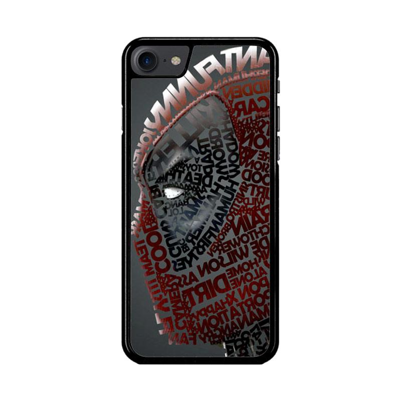 Flazzstore Deadpool Typography Z1684 Custom Casing for iPhone 7 or 8