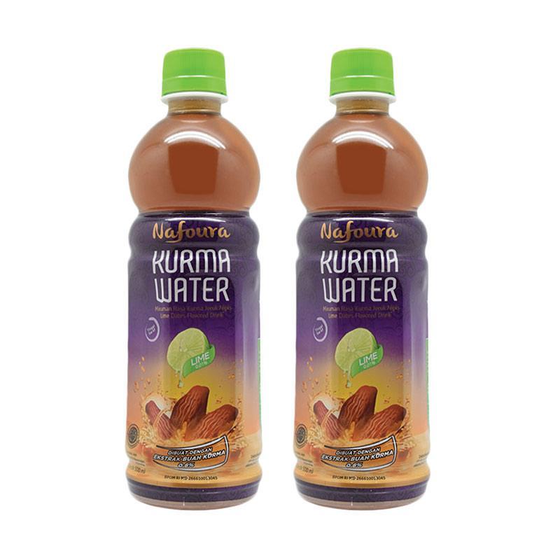 Nafoura Kurma Water Lime Minuman Kesehatan 500 mL 2 pcs