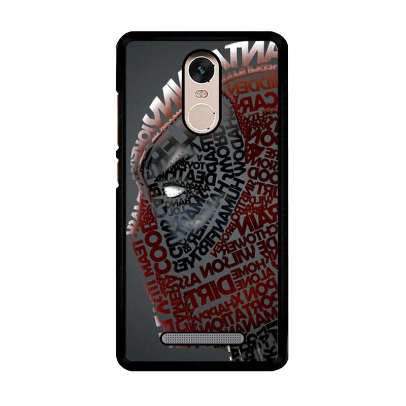 Flazzstore Deadpool Typography Z1684 Custom Casing for Xiaomi Redmi Note 3 or Note 3 Pro