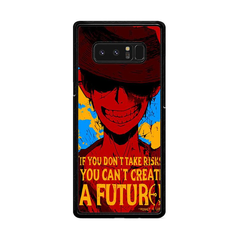 Flazzstore Luffy One Piece Quote Z1572 Custom Casing for Samsung Galaxy Note 8