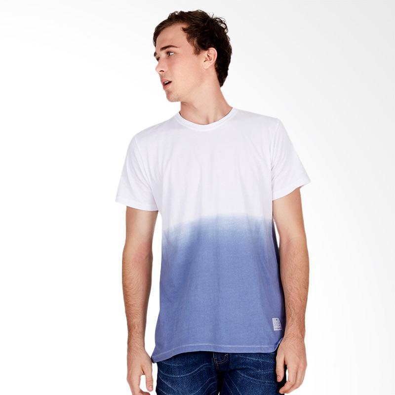Tendencies Dip Dye Tshirt Atasan Pria - White Blue