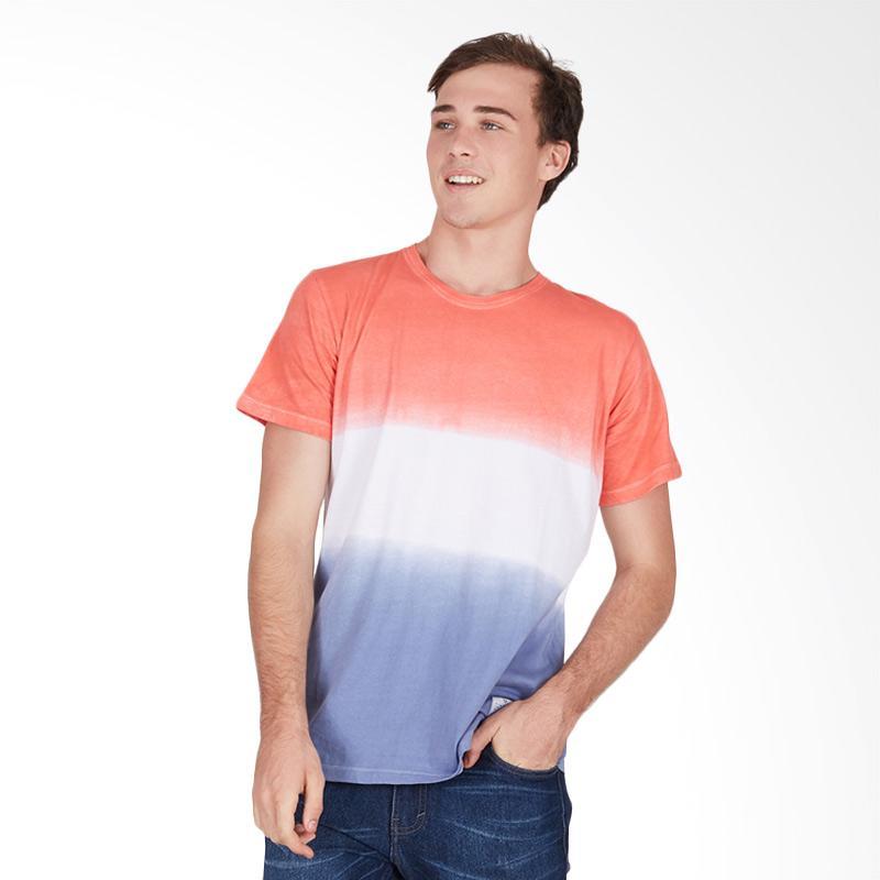 Tendencies Red Mix Dye T-Shirt - Salem White