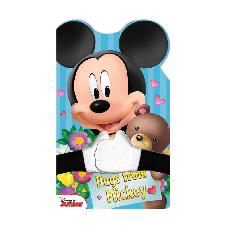 Genius Disney Junior Hugs from Mickey Board Book with Plush Huggable Arms Buku Edukasi