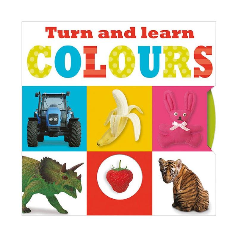 Genius Turn And Learn Colours Turn The Wheels Board Buku Edukasi Anak