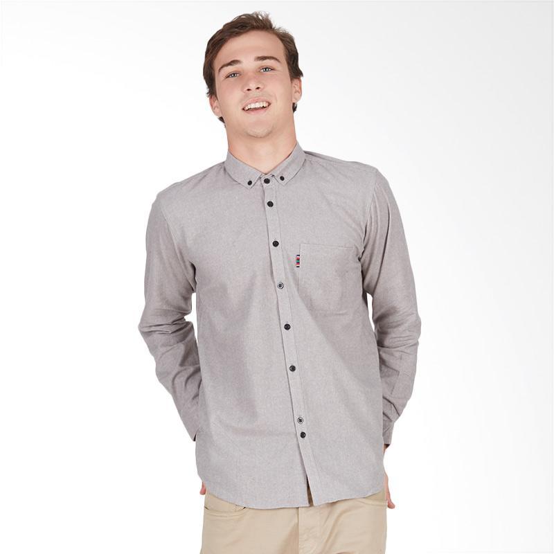 Tendencies Flannel Shirt - Plain Grey