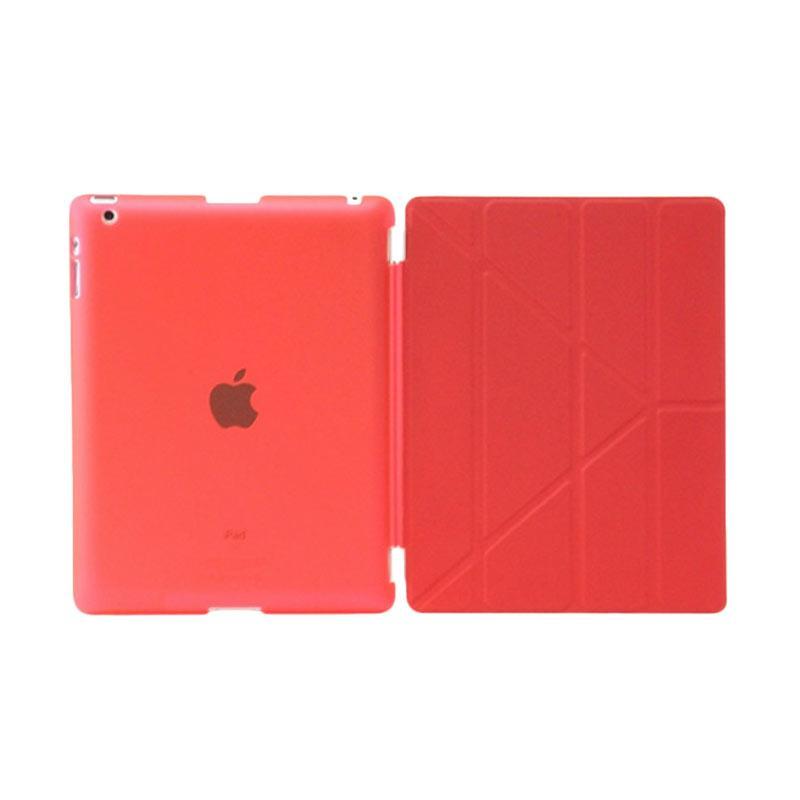 harga Slavensshop Smart V Transformer Flip Cover Casing for iPad 2/3/4 - Merah Blibli.com