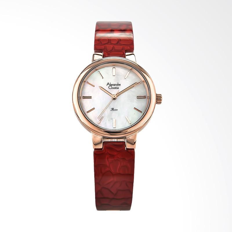 Alexandre Christie Ladies AC 2573 LH BRGMSRE Jam Tangan Wanita - Red Rosegold