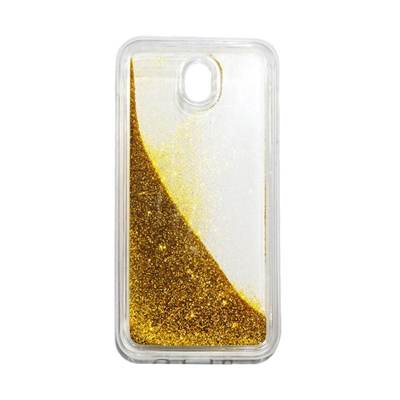 QCF Softcase Water Glitter Aquarium Silicone Casing for Samsung Galaxy J7 Pro 2017 / J730 Case Blink Blink - Gold