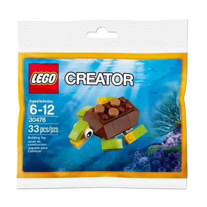 LEGO 30476 Creator Happy Turtle Polybag Mainan Block dan Puzzle [33 pcs]