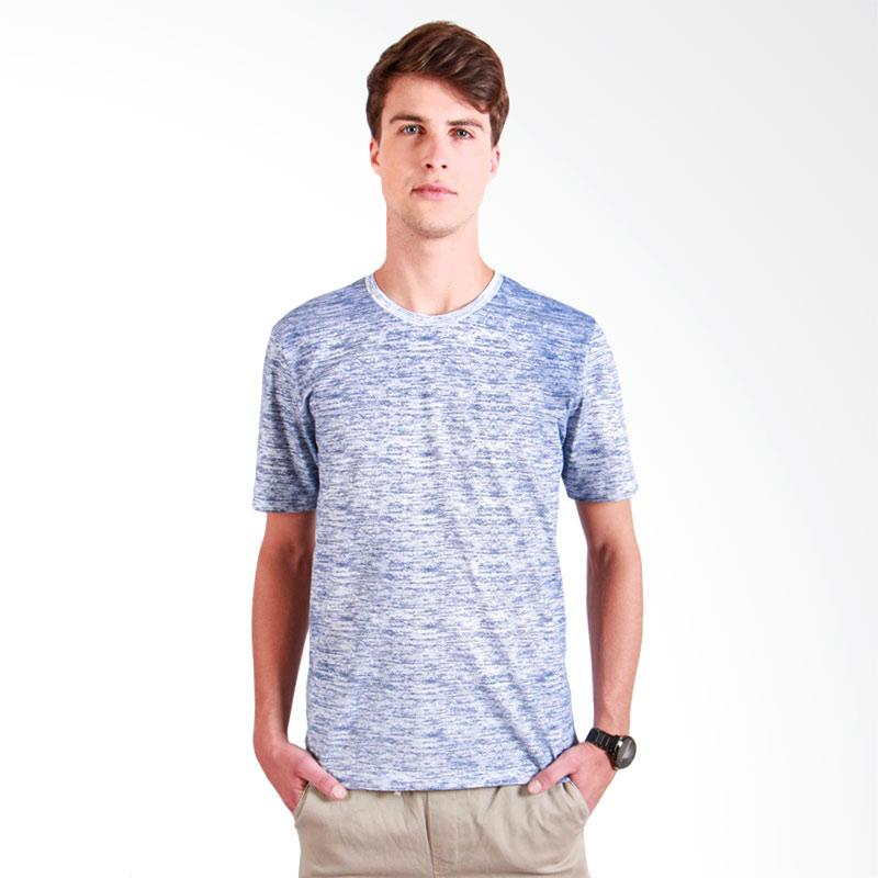180 Degrees Abstract T-shirt Pria - Biru