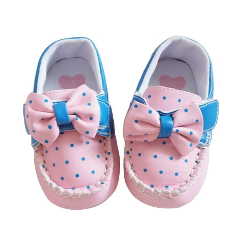 harga GBS Tapak Karet Ribbon Sepatu Bayi - Pink Blibli.com