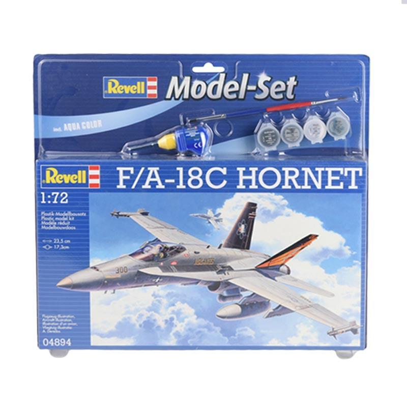 Revell Model Set F-A-18C Hornet Model Kit [1 : 72]