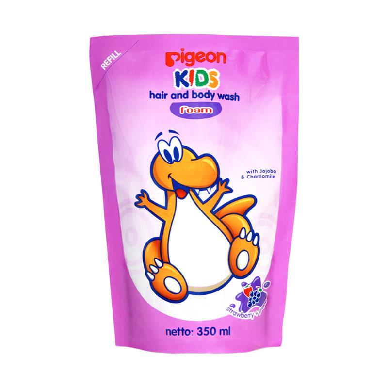 harga Pigeon Kids Wash Foam Strawberry Grape Sabun Anak - Refill [350 mL] Blibli.com