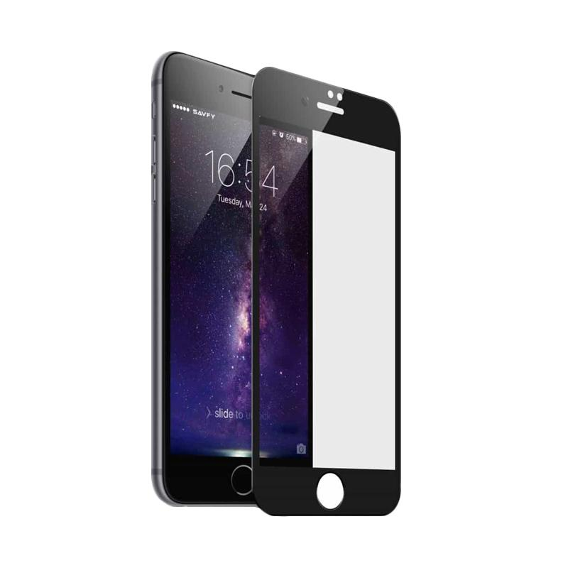 3T Tempered Glass Screen Protector for iPhone 8 - Black [Full Cover]