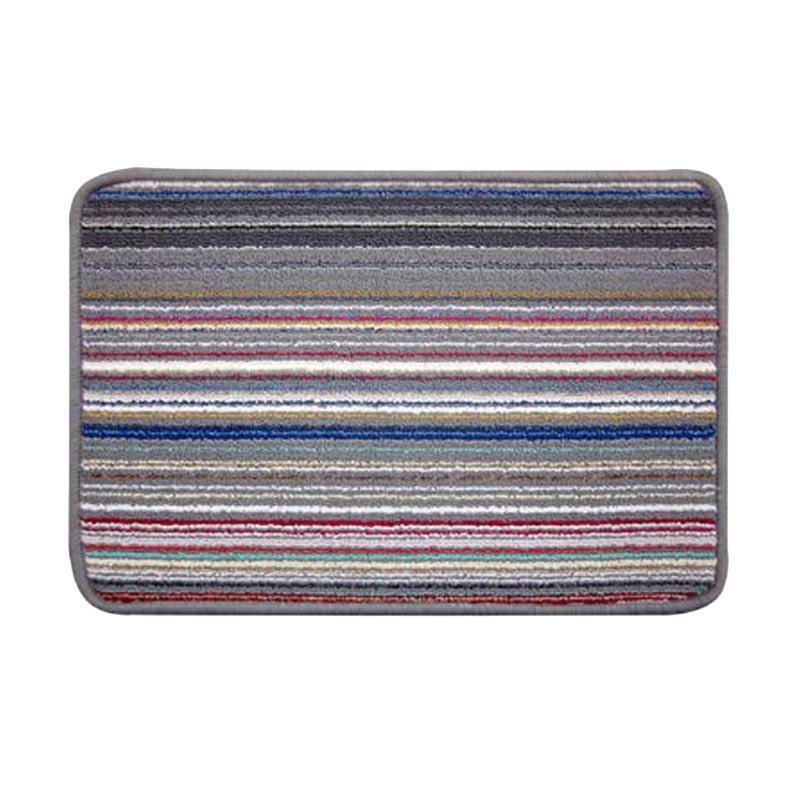harga Classic Carpets Stripped Anti Slip Keset - Grey 01 [40 x 60 cm] Blibli.com