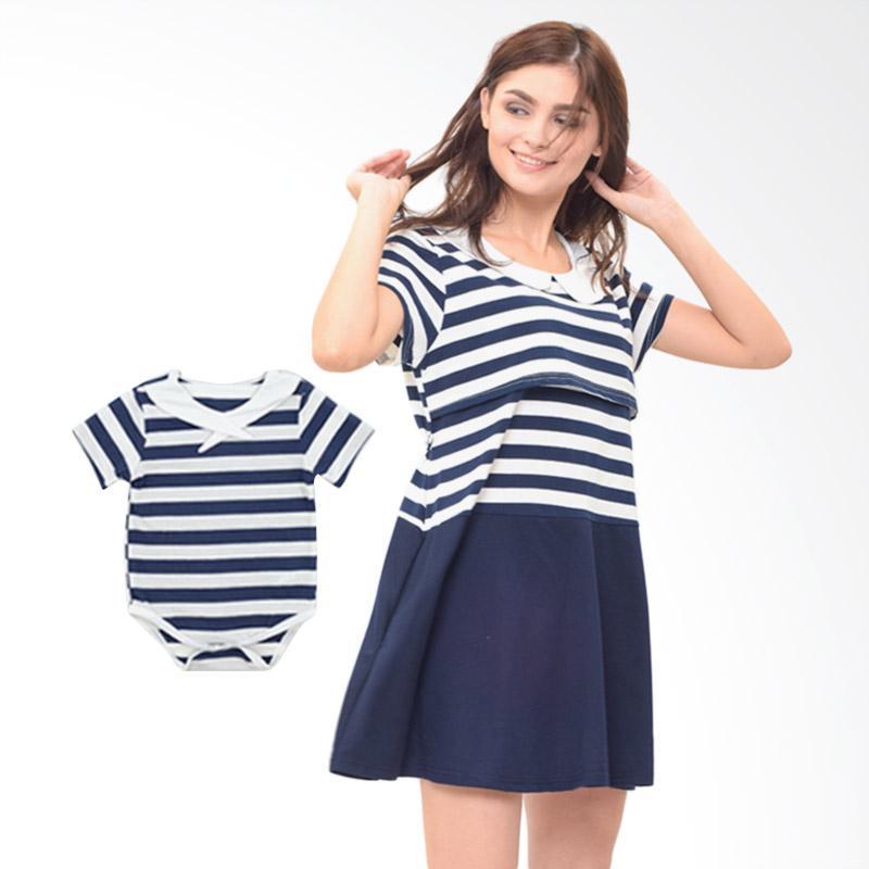 harga Mooimom Boy Dress Set Baju Couple Hamil Menyusui & Anak - Navy Blibli.com