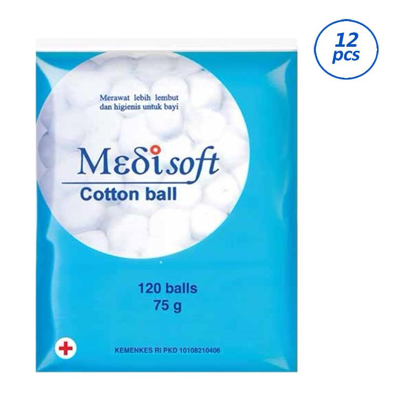 Medisoft Cotton Balls Kapas [120 Balls/ 12 pcs]