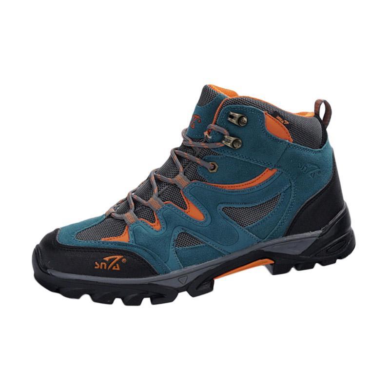 Snta Boots Hiking Sepatu Gunung - Blue Orange [491]