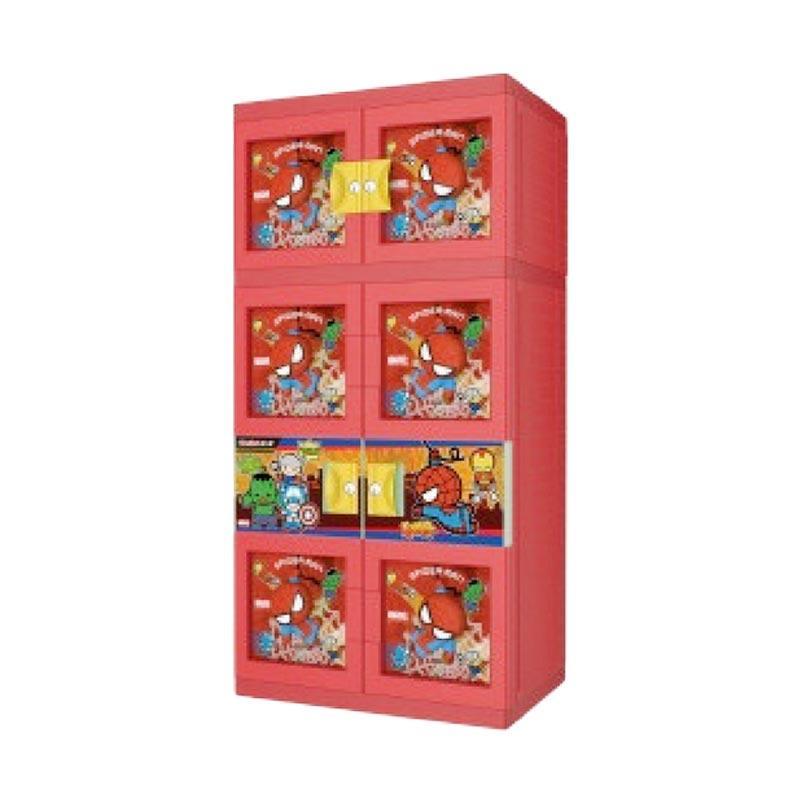 harga Naiba 3D Spiderman Plastik Lemari Gantung - Merah Blibli.com
