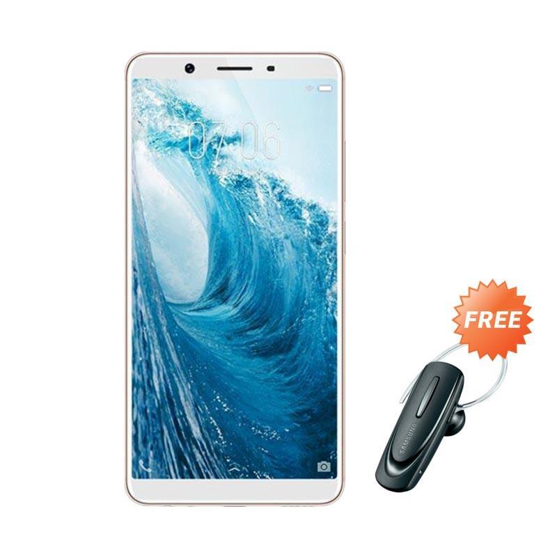 harga VIVO Y71 Smartphone - Gold [32GB/ 3GB] + Free Headset Bluetooth Blibli.com