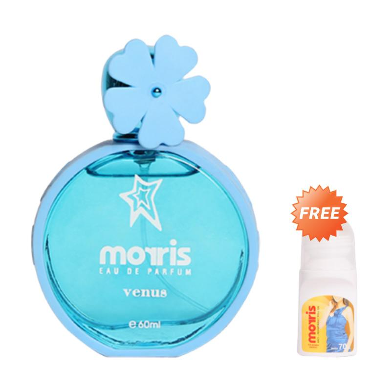 harga Morris Bunga Venus EDP Parfum Wanita [60 mL] + Free Morris Roll On Energic [70 mL] Blibli.com