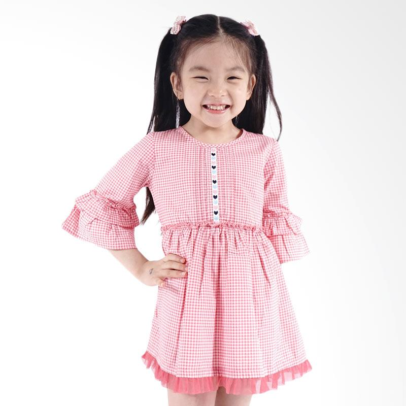 Kids Icon CGDT0500180 Curly Dress Anak Perempuan with Pleat dan Tulle Detail