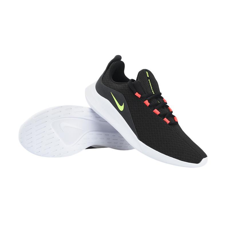 NIKE Men Running Viale Sepatu Lari Pria Black Red AA2181 001