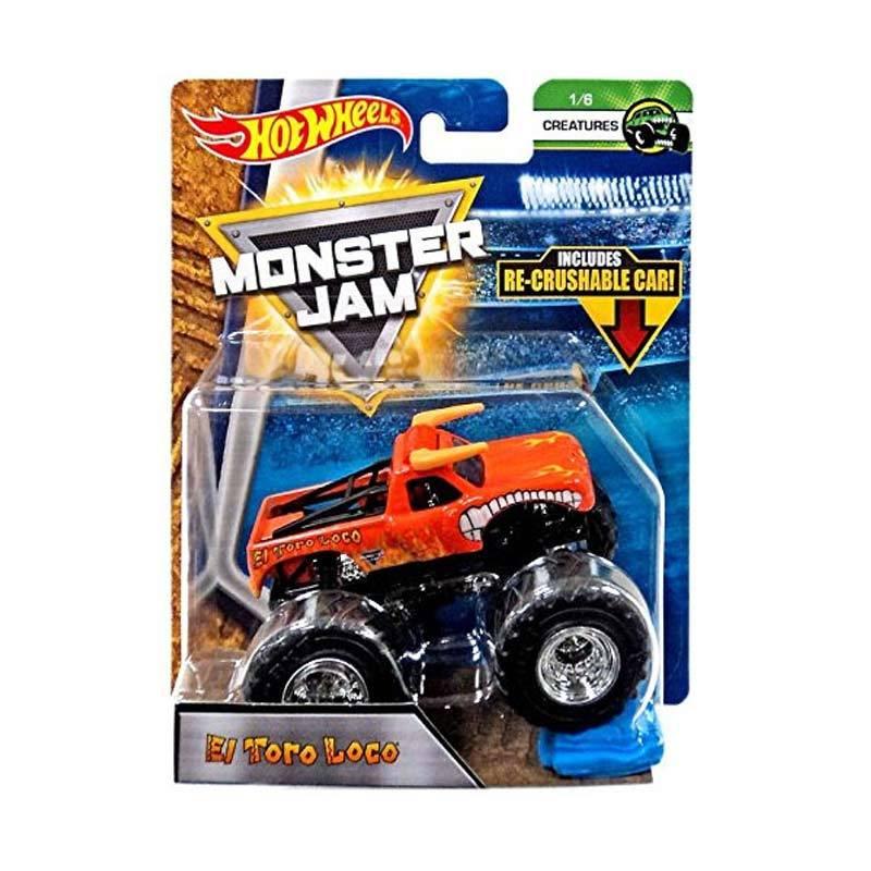 Jual Hot Wheels Monster Jam El Toro Loco Truck Re Crushable Car Diecast 1 64 Online Oktober 2020 Blibli Com