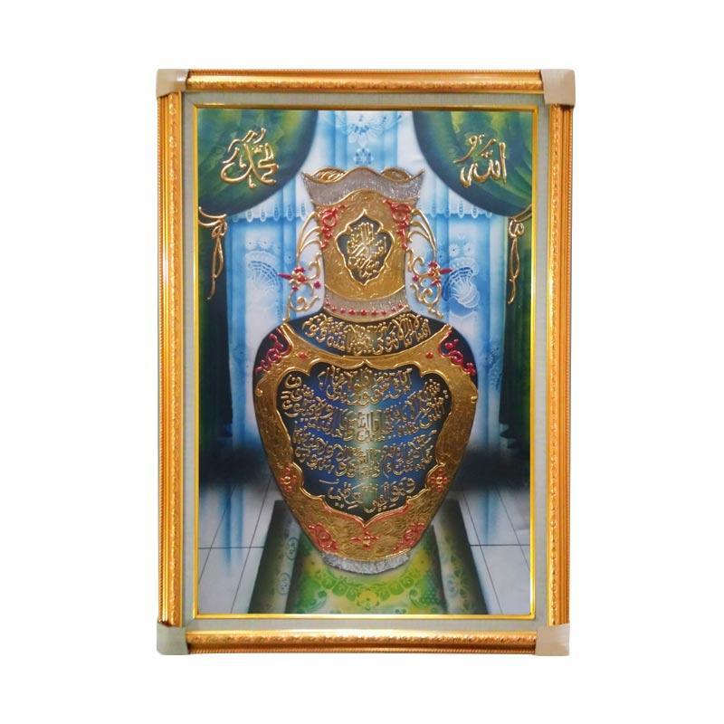 Oem Motif Guci Kaligrafi Ayat Kursi Dekorasi Dinding