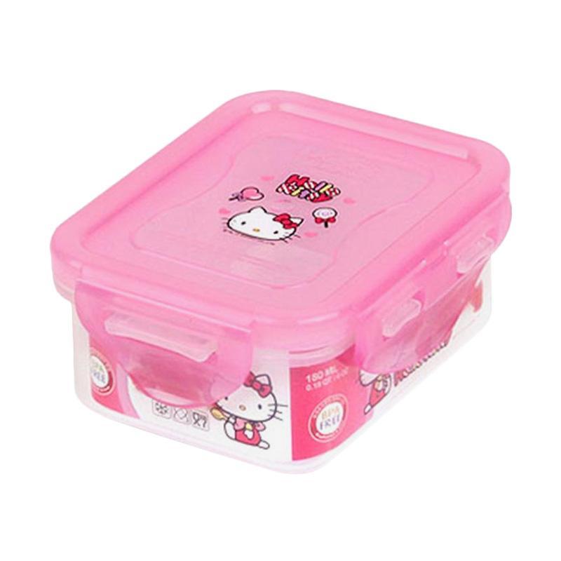 Lock n Lock Hello Kitty Candy Rectangular Container Tempat Makan Anak [180 mL]