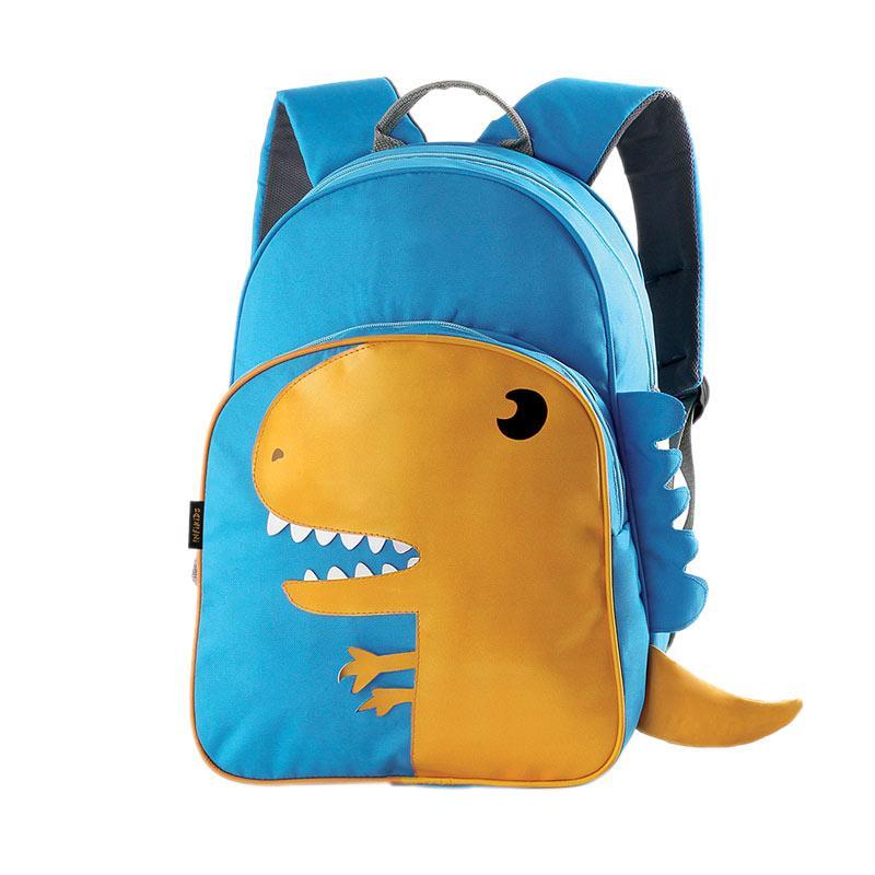 nfikids Dino Bacpack Raincoat Tas Sekolah Anak Laki laki