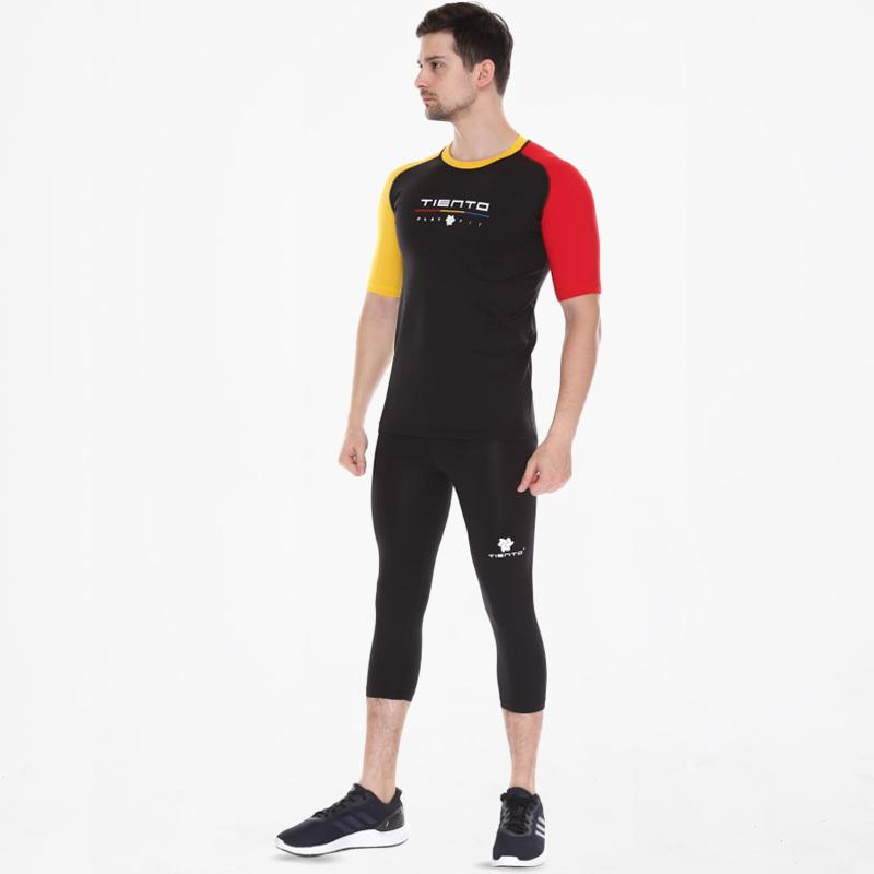 Jual Tiento Baselayer Manset Primer Dan Celana Leging 3 4 Pants Setelan Pakaian Olahraga Pria Black Online Oktober 2020 Blibli Com