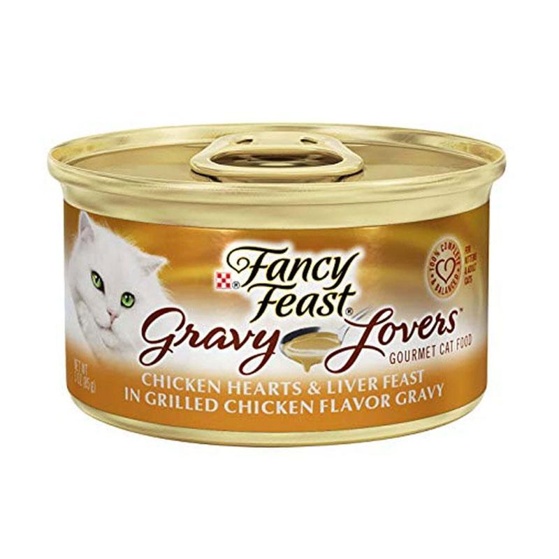 Fancy Feast Gravy Lovers Chicken Feast Makanan Kucing 85 g