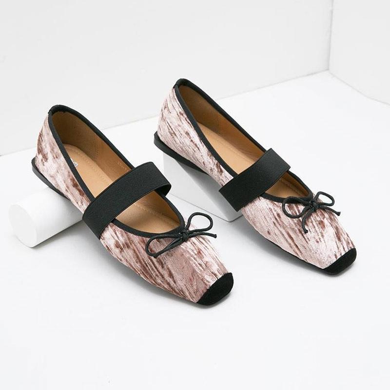 Berrybenka Mischa Decyta Suede Sepatu Flat Wanita Pink