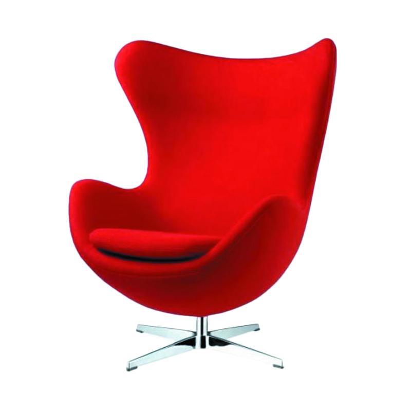 Jual Tmuf Egg Chair Kursi Sofa Merah Online Desember 2020 Blibli