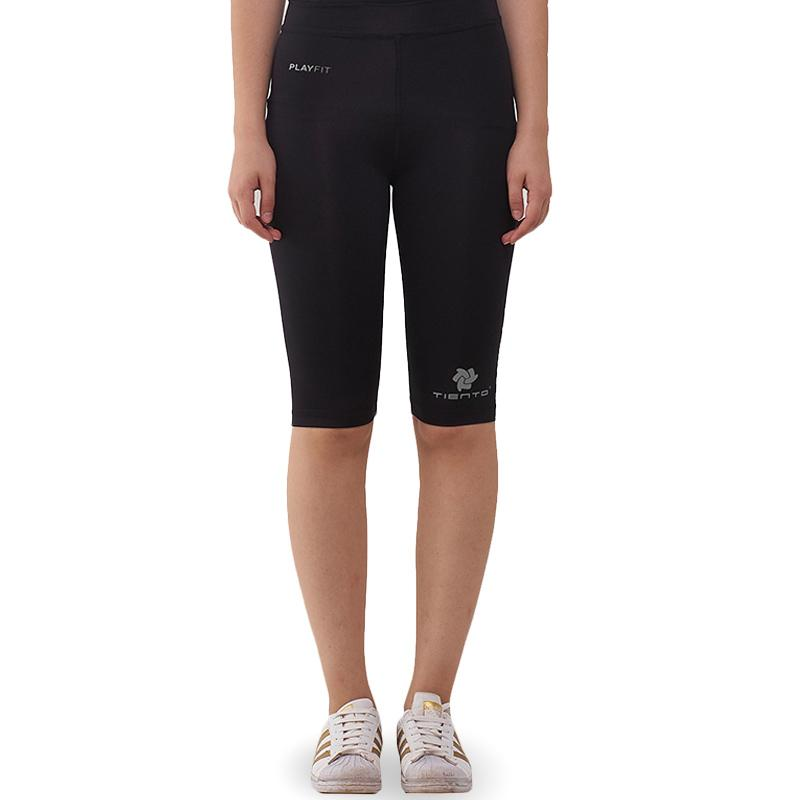 Jual Tiento Baselayer Celana Legging Ketat Olahraga Half Pants Wanita Online Oktober 2020 Blibli Com