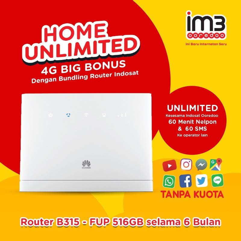 Jual IM3 Ooredoo B315 Unlimited Indosat Router Home [6 bulan