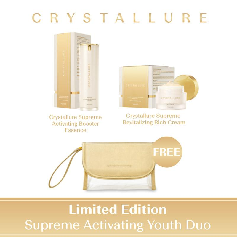 Crystallure Supreme Activating Youth Duo Set Perawatan Kulit Limited Edition