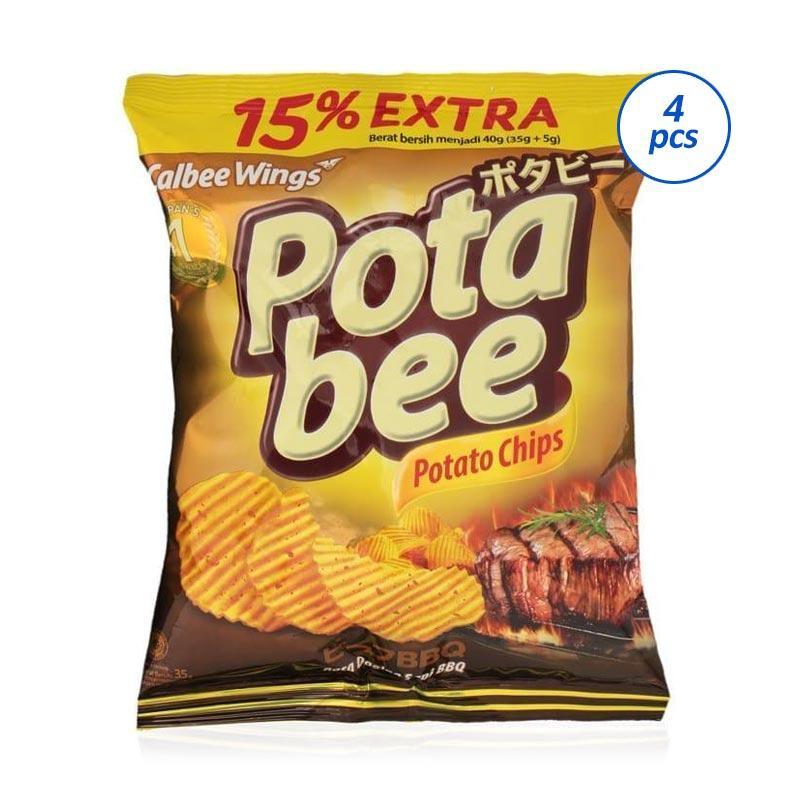 POTABEE BBQ Beef Regular Kripik Kentang 35 g 4pcs