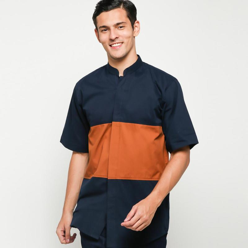 Serene x ALCAL INDONESIA SS Shirt 7 2 Camel Navy