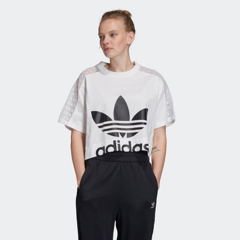 Jual Adidas Originals Women Lace Tee Fl4128 Online November 2020 Blibli