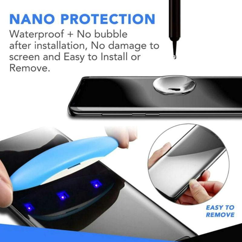 Jual Hikaru 5d Tempered Glass Screen Protector For Samsung Galaxy S20 Ultra F Set Full Cover Uv Nano Glass Terbaru Juli 2021 Blibli
