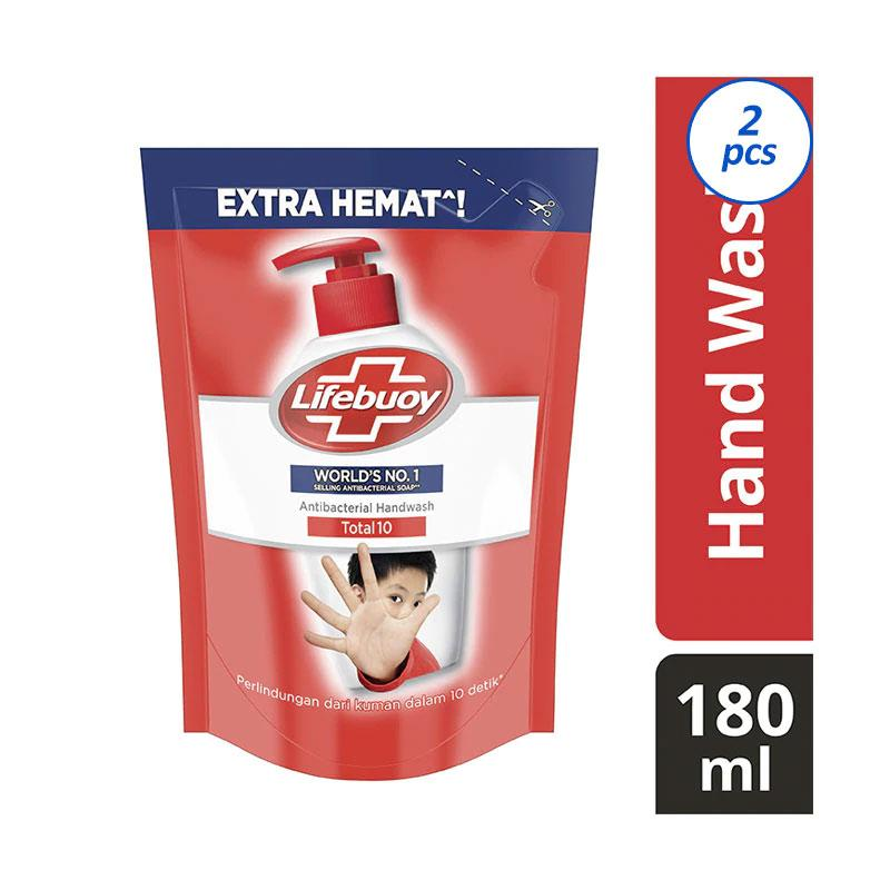 Lifebuoy Liquid Red Pouch Hand Wash 180 mL Twin Pack